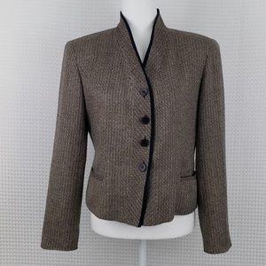 Evan Picone Woven Blazer Size 8